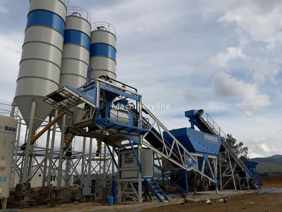 جديد ماكينة صناعة الخرسانة PROMAX Mobile Concrete Batching Plant M100-TWN Twin Shaft