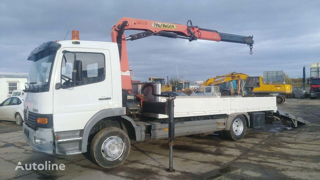 شاحنة مسطحة MERCEDES-BENZ ATEGO 1225 + HDS