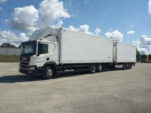 شاحنة التبريد SCANIA P410 + العربات المقطورة