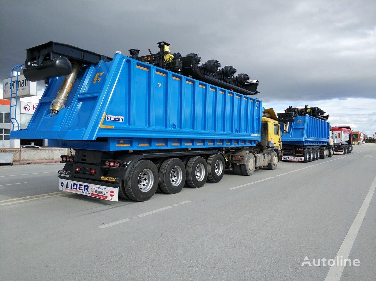 جديدة العربات نصف المقطورة شاحنة قلابة LIDER 2020 MODEL NEW 35 Mt3 DUMPER ( BENNE )