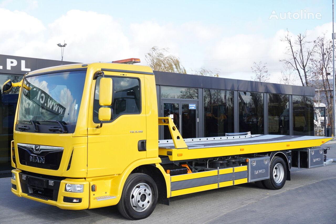 سيارة الجر / نقل سيارات معطلة MAN TGL 8.180 , E6 , 70k km , NEW ASSISTANCE BODY 2020 , hydraulic