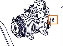 ضاغط مكيف الهواء Compresor Aire Acond Mercedes-Benz ATEGO 923,923 L (A 000 234 08 11) لـ الشاحنات MERCEDES-BENZ ATEGO 923,923 L