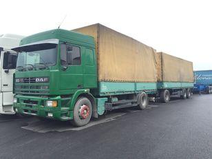 صندوق خلفي مغطى DAF 95.430 ATI EURO2 + SCHARZMULLER + العربات المقطورة صندوق خلفي مغطى